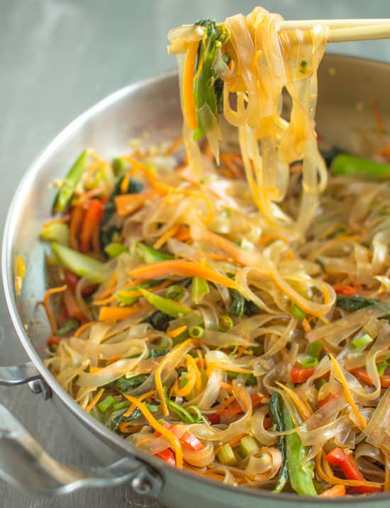 Vegetable Stir Fry Mung Bean Noodles
