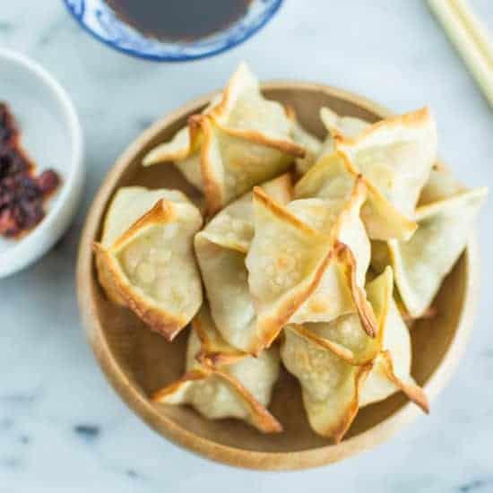 Baked Thai Shrimp Wontons | healthynibblesandbits.com