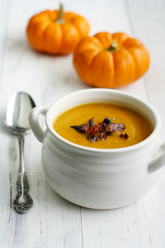 Butternut Squash & Apple Soup with Bacon