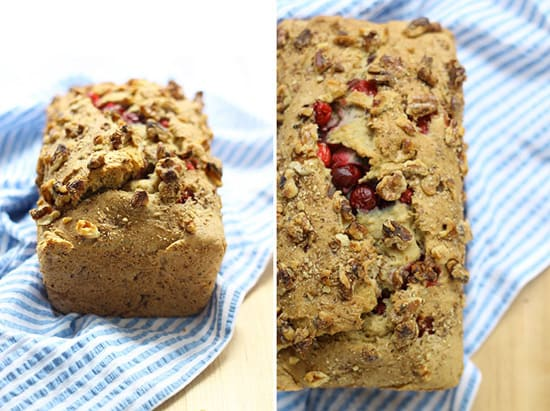 Gluten-Free Cranberry Walnut Loaf