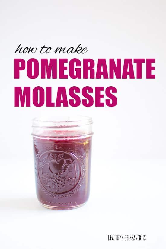 How to Make Pomegranate Molasses | healthynibblesandbits.com