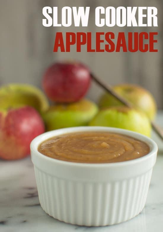 Slow Cooker Applesauce | healthynibblesandbits.com