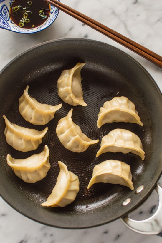 Spring Thyme and Pork Potstickers | healthynibblesandbits.com