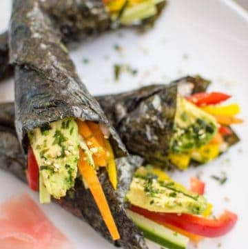 Vegetable Hand Rolls (Temaki)