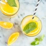 Orange Mint Coconut Water   healthynibblesandbits.com
