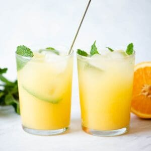 Orange and Coconut Water Refresher
