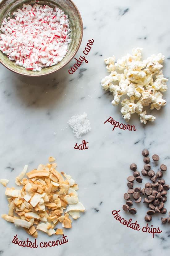 Peppermint Bark Popcorn Ingredients