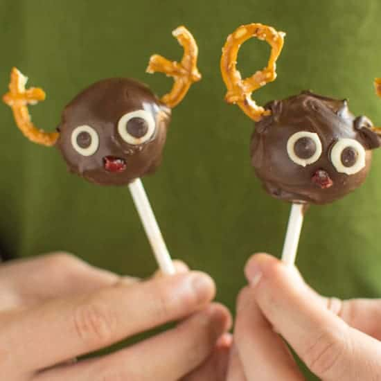 These adorable Rudolph Brownie Pops are delicious and gluten-free!