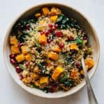 #Vegan Coconut Bulgur & Butternut Squash Bowl - a healthy grain bowl that is easy to make!