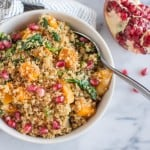Nutritious and delicious Coconut Bulgur and Butternut Squash Bowl | healthynibblesandbits.com #vegan