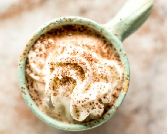 Coconut Kahlua Hot Chocolate | healthynibblesandbits.com #vegan