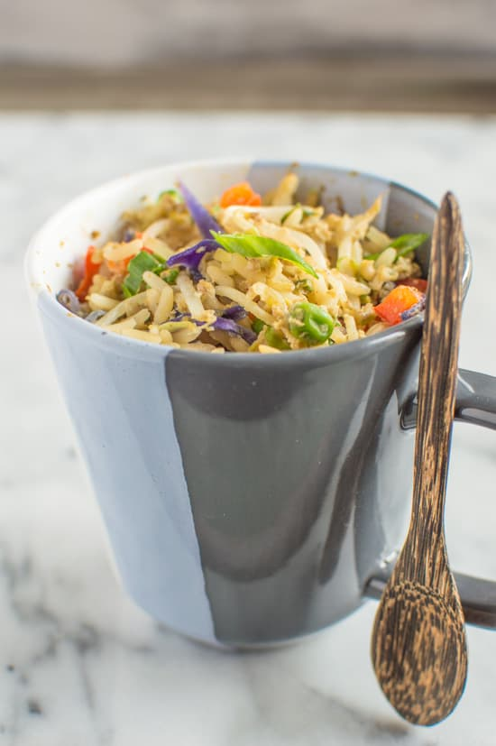 Egg Fried Rice In A Mug | healthynibblesandbits.com #glutenfree