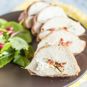 Prosciutto Wrapped Chicken with Goat Cheese | healthynibblesandbits.com #glutenfree