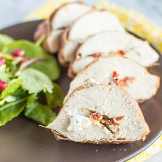 Prosciutto Wrapped Chicken with Goat Cheese | healthynibblesandbits ...