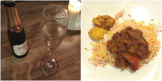 Prosecco + Tandoori Curry