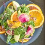 Roasted Orange Rainbow Salad with Asian Orange Vinaigrette | healthynibblesandbits.com