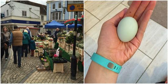Romsey market + Blue Egg