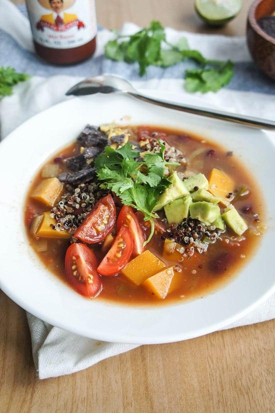 Southwest Quinoa & Butternut Squash Soup