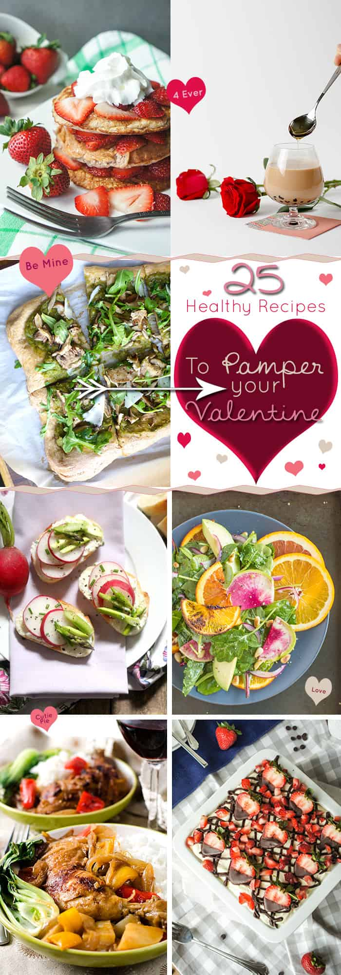 25 Healthy Valentines Day Recipes | healthynibblesandbits.com