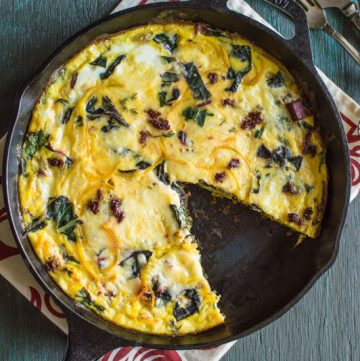 Swiss Chard and Golden Beet Frittata