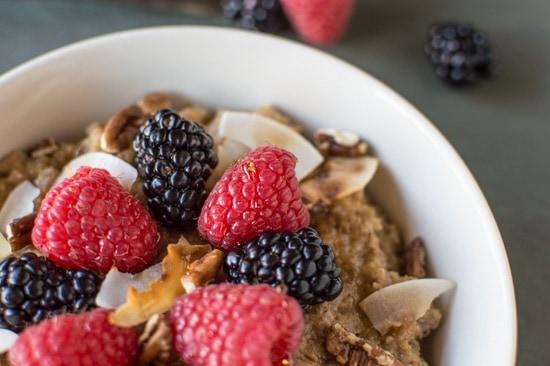 Chai Tea Oatmeal | healthynibblesandbits.com #vegan #glutenfree