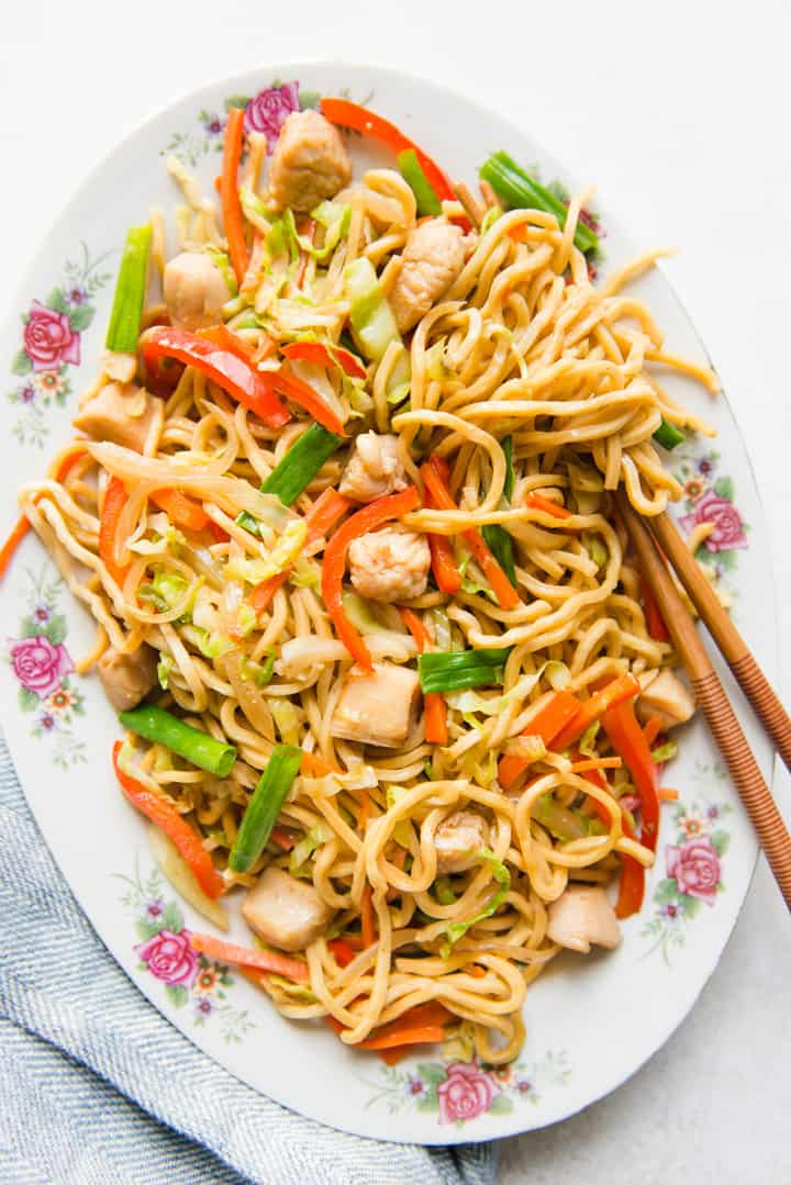 Easy chinese lo mein noodles recipe