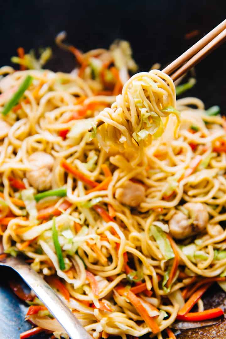 30-Minute Chicken Chow Mein Recipe - this chow mein is better than takeout!