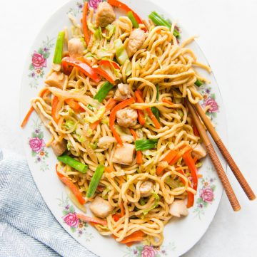 The Easiest Chicken Chow Mein