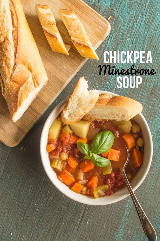 Simple and delicious Chickpea Minestrone Soup