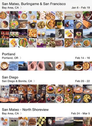 Food photos on phone
