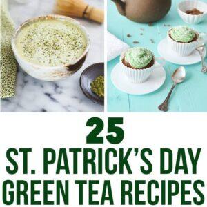25 St. Patrick's Day Green Tea Recipes | healthynibblesandbits.com