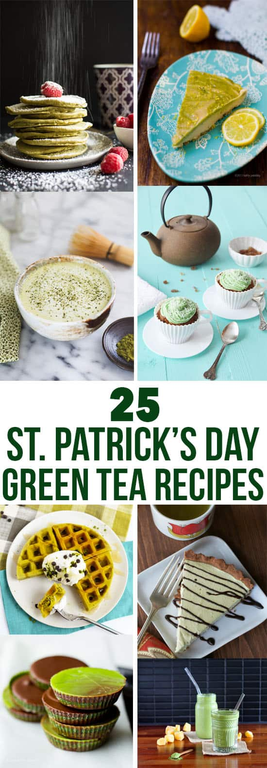 25 St. Patrick's Day Green Tea Recipes | healthynibblesandbits.com