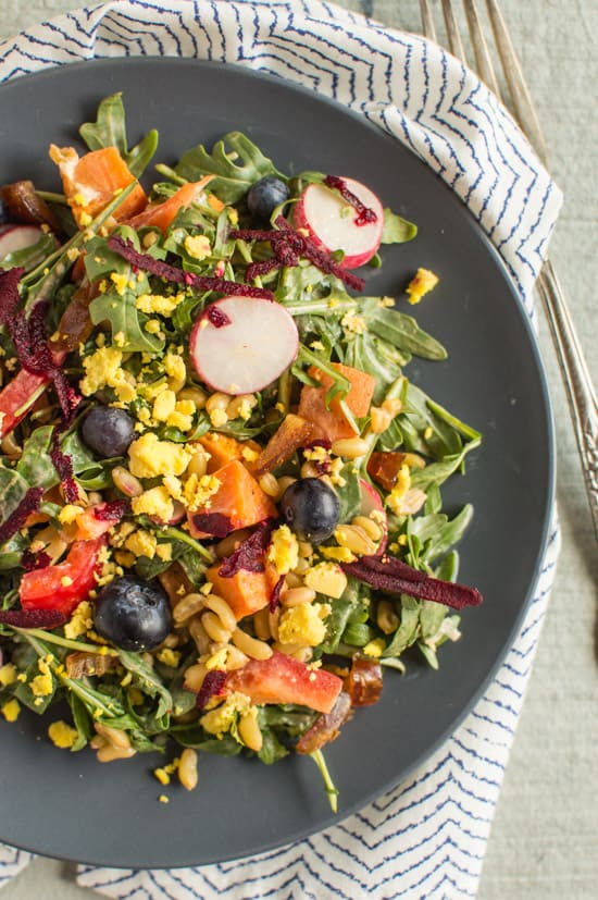 Kamut Salad with Creamy Chipotle Dressing | healthynibblesandbits.com