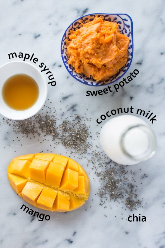 Sweet Potato Mango Smoothie Ingredients