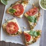 Vegetarian Carrot Top Pesto Pizza | healthynibblesandbits.com