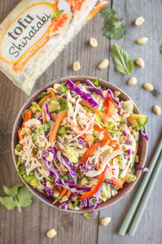 Refreshing, gluten-free Vietnamese Tofu Shirataki Salad that's ready in 15 minutes! | healthynibblesandbits.com