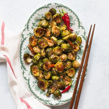 General Tso's Brussels Sprouts