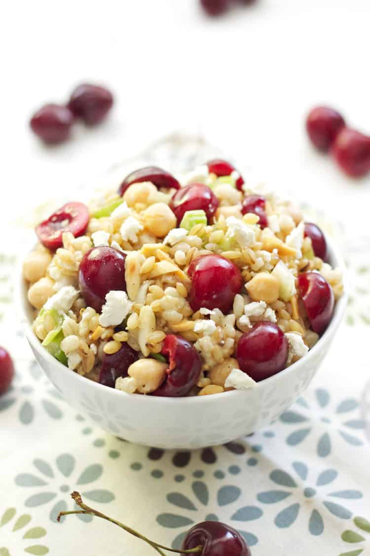 Barley Salad with Cherries