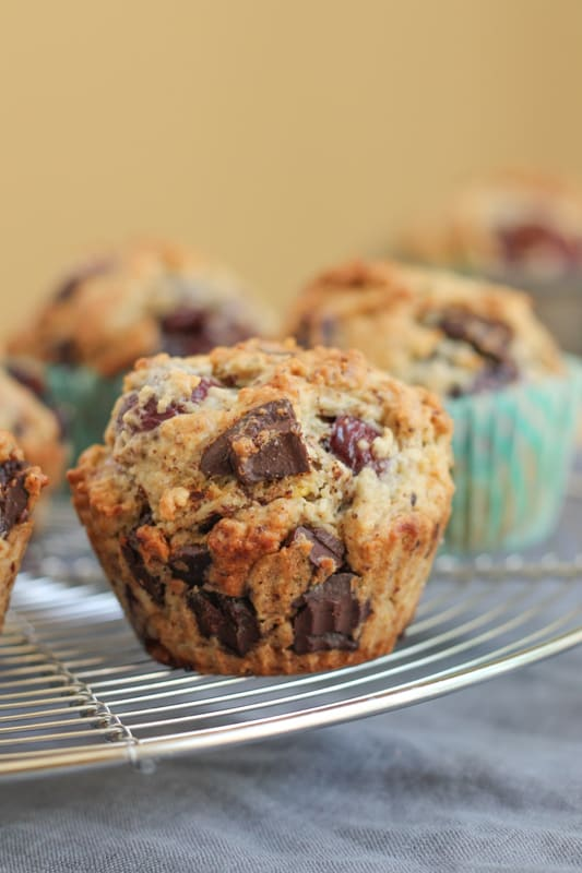 Cherry Chocolate Hazelnut Muffins