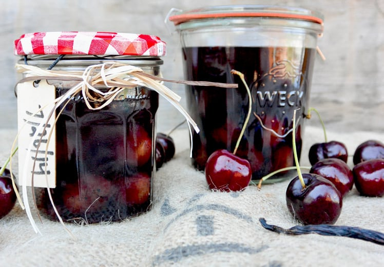 Cherry Vanilla Infused Bourbon | Floating Kitchen