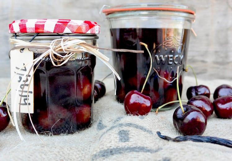 Cherry Vanilla Infused Bourbon | Floating Kitchen