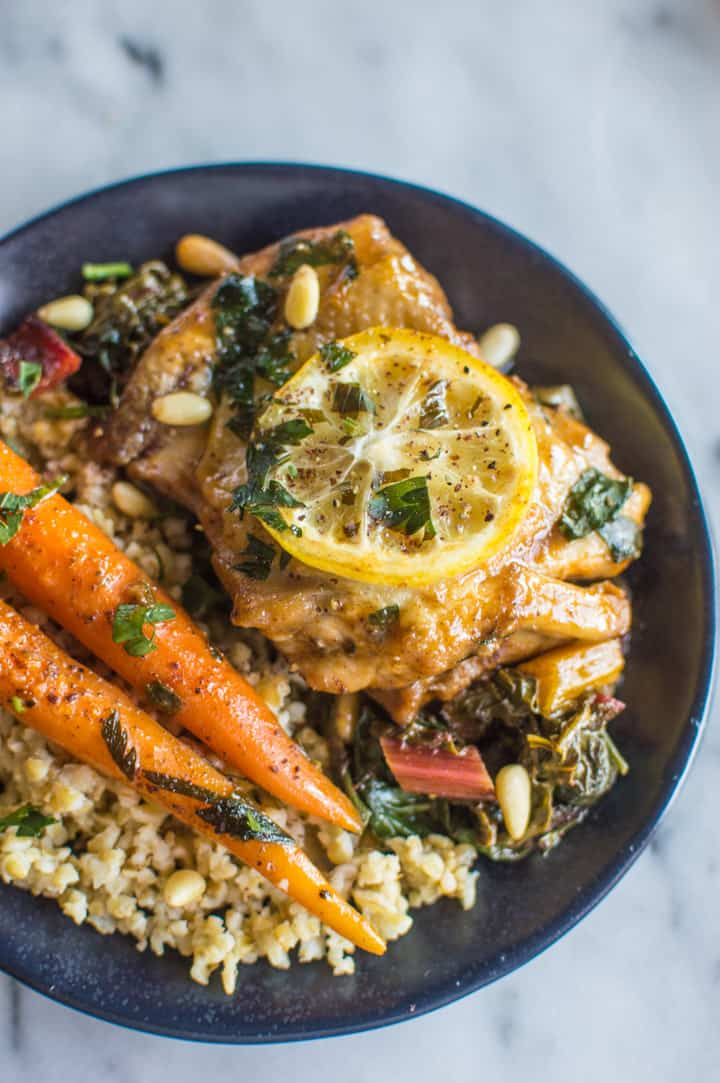 One-Pot Braised Lemon Paprika Chicken with Sumac - tasty dish ready in 30 minutes! | healthynibblesandbits.com