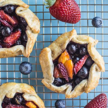 Mini Berry and Nectarine Galettes