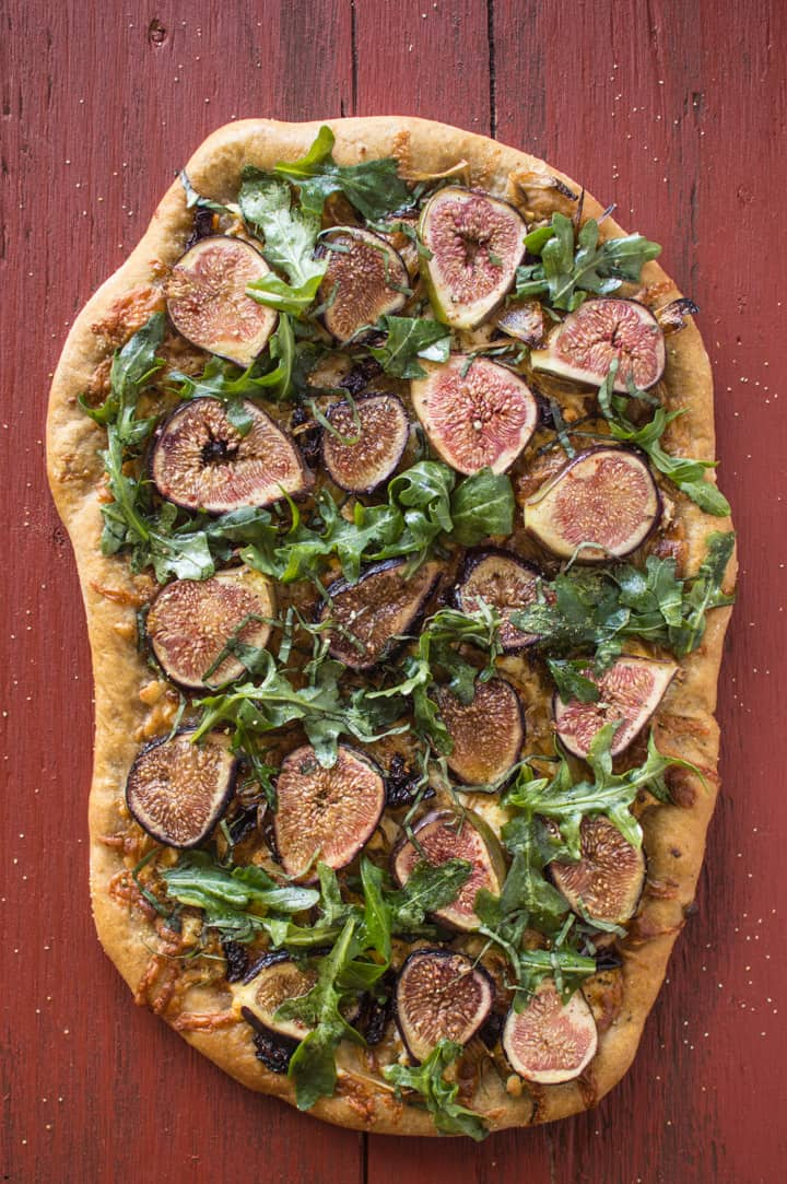Three Cheese Fig & Onion Pizza | healthynibblesandbits.com