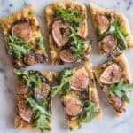 Three Cheese Fig & Onion Pizza | healthynibblesandbits.com
