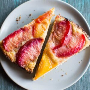 Gluten-Free Pluot Torte - easy dairy-free dessert that's made in one bowl! healthynibblesandbits.com