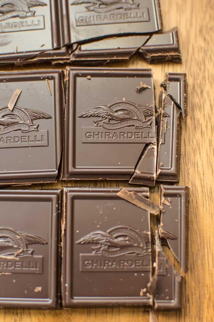 Chocolate for Gluten-Free Pumpkin Crumb Muffins with Chocolate - super moist muffins with a crunchy top crumble on top! | healthynibblesandbits.com