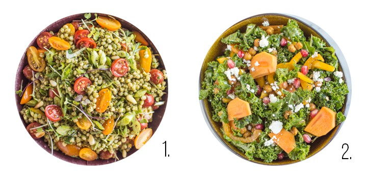 Kale salad recipes on healthynibblesandbits.com