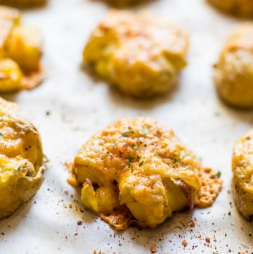 Smoked Gouda Smashed Potatoes