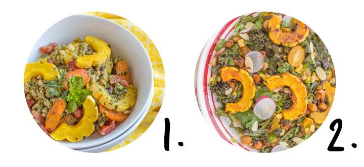Delicata squash recipes on healthynibblesandbits.com